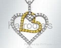 Heart Pendent With Diamonds