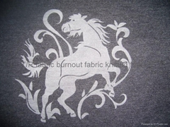 T/R fabric burnout fabric etched out fabric