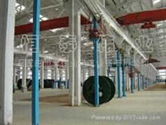 半懸鏈三層共擠干法交聯電纜生產設備