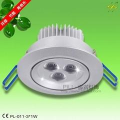 大功率LED天花燈PL-011-3*1W