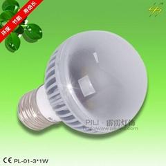 LED球泡燈-PL-01-3*1W