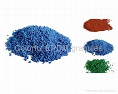 Color EPDM granule artificial grass infilled