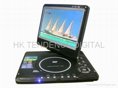 11.5 inch portalbe DVD player with rotation function