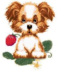 Cross-stitch finished products for Wall Hanging(Tatty Teddy )