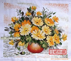 Cross-stitch finished products for Wall Hanging(Chrysanthemum)