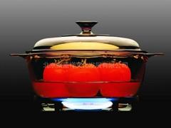 United States Corning transparent pot