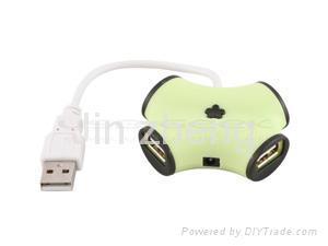Portable usb 2.0 4-port mini hub