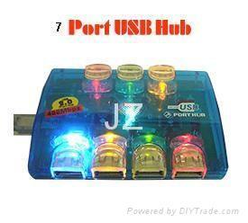 USB 2.0 hub 7 port, 7 port usb hub, 7-port usb hub ,usb gift colorful hub