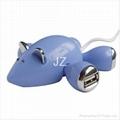mouse shape hub/usb hub/4 port usb hub/small mouse USB HUB