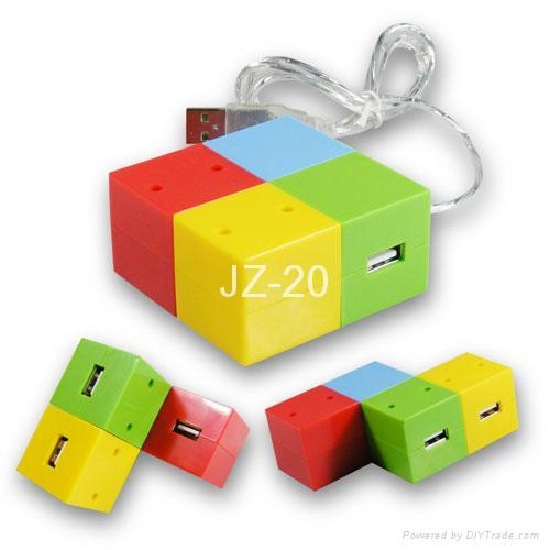 4 Port USB Hub/ Mini USB Hub/New Usb Hub/ 4-port Usb Hub/magic cube hub