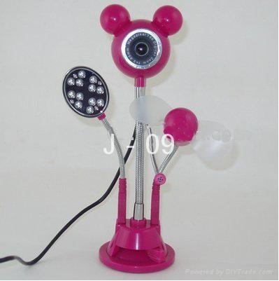 Webcam web camera PC Camera with 12 LED light MIC and fan,driver free camera