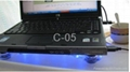 3 fan Laptop cooling pad with blue light