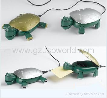 New arrival tortoise shape 4 port usb hub with ashtray