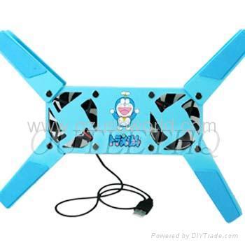Doraemon 2 Fan Foldable Laptop Notebook Cooler Pad cooling pad