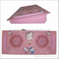Cute 2 Fan Hello Kitty Notebook Laptop Cooler cooling Pad with LED light
