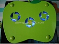 New arrival green apple laptop cooling pad (3 Fan with blue LED light)