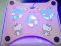 hello kitty 3 fan USB Light Laptop Notebook Cooling Pad Cooler W/blue L