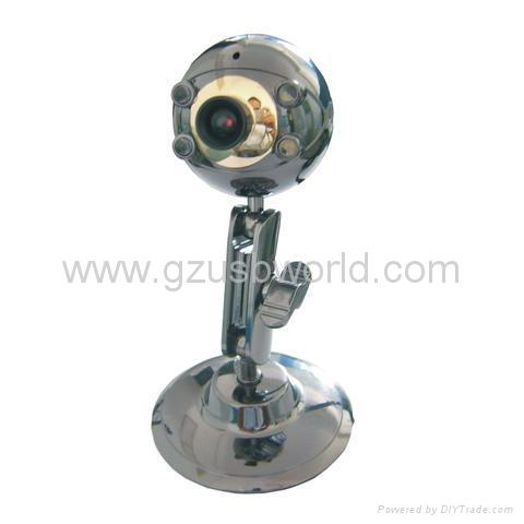 New metal USB 2.0 webcam pc camera with 4 LED night vision