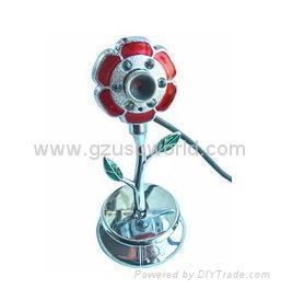 New metal flower shape webcam pc camera non-driver