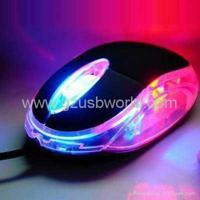 (cheap price) Red & Blue Light-up USB Optical Mouse SONY