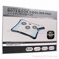 Laptop Notebook Cooler Cooling Pad with 4 Port USB 2.0 Hub