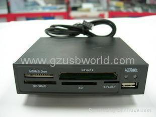 "3.5""internal all in one card reader USB 2.0 high speedy"