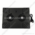 USB Cooling Cooler 2 Fan Pad for Notebook Laptop PC