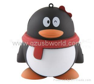 penguin shape usb 2.0 hub 4 port