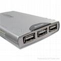 USB2.0 CARD READER + 3 PORT HUB COMBO