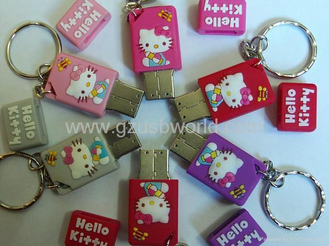 USB Flash Drive with Hello Kitty Design for Christmas and Promotional Gifts