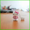 3D hello kitty flash memery drive thumbdrive pen keys