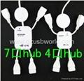 人形7口USB HUB