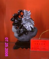天然菊花石工藝品小擺件