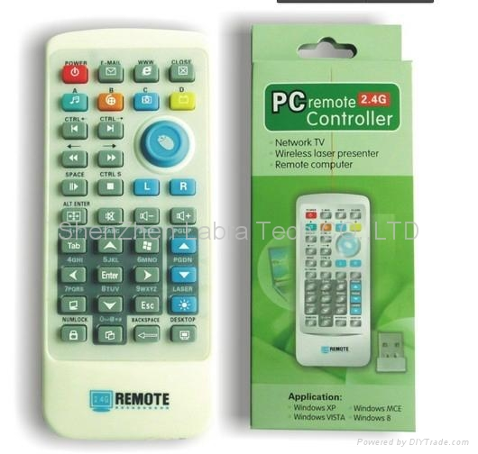 2.4G PC remote control with laser pointer 1