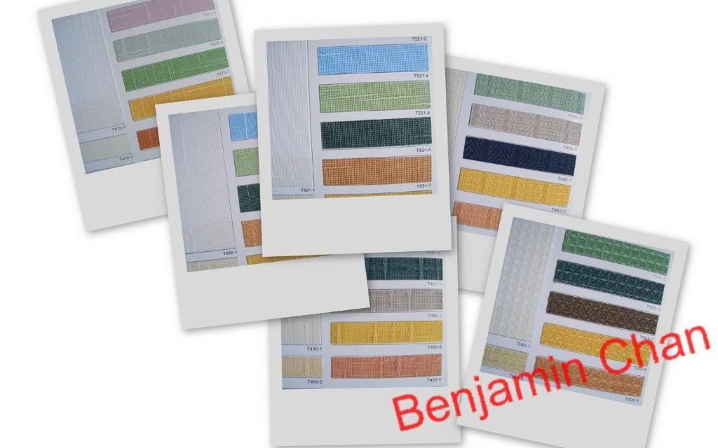 Pigment color series for Vertical Blinds 1