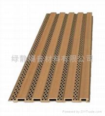 深圳绿静生态木穿孔吸音板