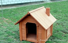 Wooden Dog House pet bed