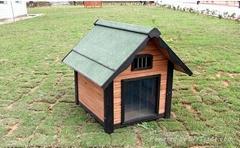 Fancy Wooden Dog House pet bed