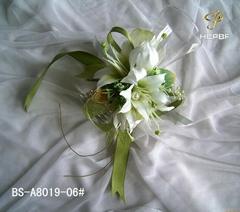 供應手腕花,人造仿真花,絹花,絲花,新娘花,頭花,臂花,頸花