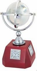 地球儀時鐘,桌面禮品,辦公居家裝飾擺件