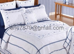 graice blue embroidered quilt