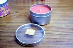 Tin candle can / box