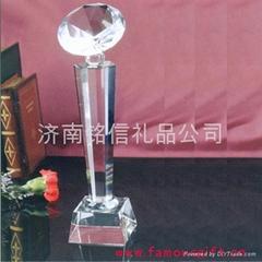 濟南水晶獎杯製作