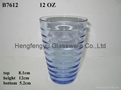 blue tumbler glass
