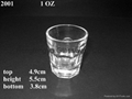 pressed clear GLASS TUMBLER