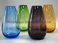 color Glass vase