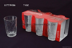 Plain tumbler glass