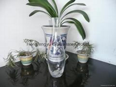 clear Glass wine jar