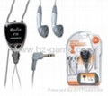 PSP GO Heart-Shaped Earphone With FM Radio,Rechargerble Hand Grip,skidproof