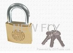 Globe Brand Polished Brass Padlock